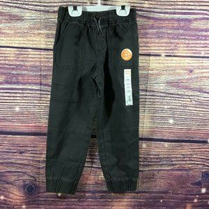 Jumping Beans boy's twill slim fit pull on jogger